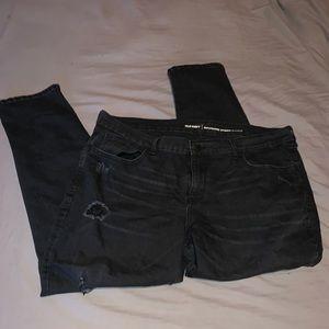 "Old Navy black ripped ""boyfriend slimy"" jeans"